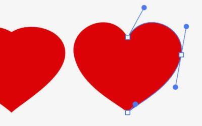 In spiegelbeeld tekenen met Adobe Illustrator: maak een mooi hartje.