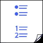 genummerde lijsten in de cursus indesign